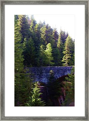 Bridge In The Middle Of Beauty Framed Print