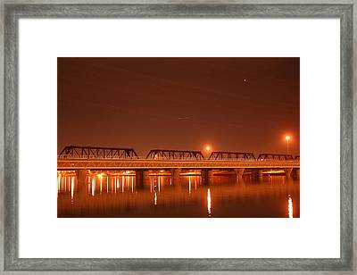 Bridge In The Mist Framed Print