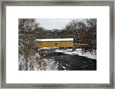 Bridge In Winter II Framed Print