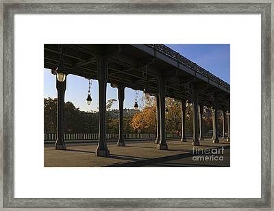 Bridge Of Bir Hakeim In Paris Framed Print by Louise Heusinkveld