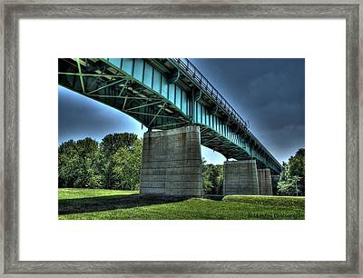 Bridge Of Blue Framed Print by Heather  Boyd