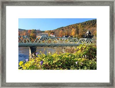 Bridge Of Flowers Morning Glory Autumn Framed Print by John Burk
