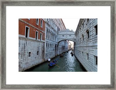 Bridge Of Sighs. Framed Print by Terence Davis