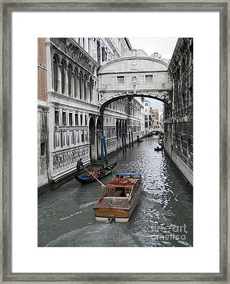 Bridge Of Sights. Venice Framed Print by Bernard Jaubert