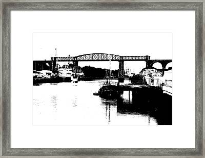 Framed Print featuring the photograph Bridge On The Boyne by Charlie and Norma Brock