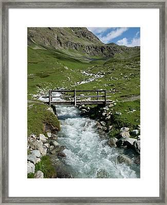 Bridge Over A Mountain Creek Framed Print