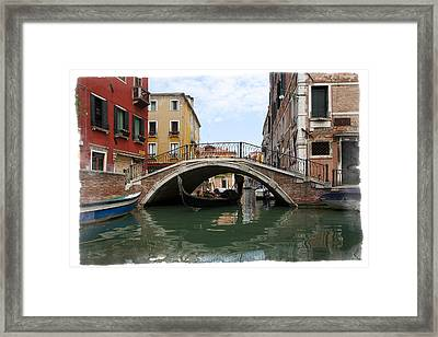 Bridge Over Gondola Framed Print