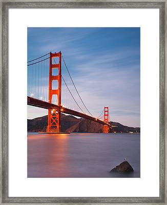 Bridge Over Milky Bay Framed Print by Sean Duan