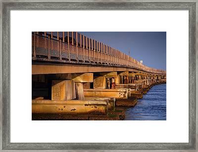 Bridge Over Oregon Inlet Framed Print by Steven Ainsworth