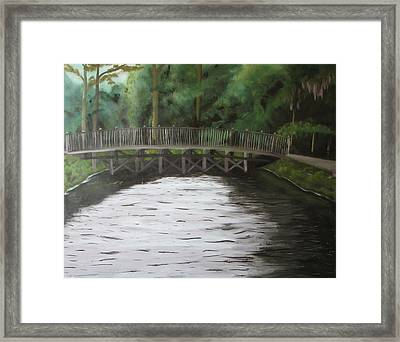 Bridge  Over River Framed Print by Iris Nazario Dziadul