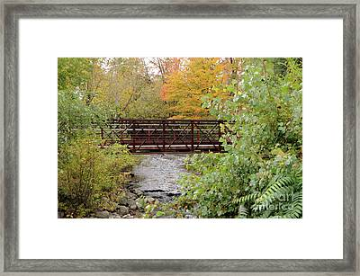 Bridge Over River Framed Print
