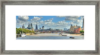 Bridge Over River Thames In London Framed Print by Richard Fairless