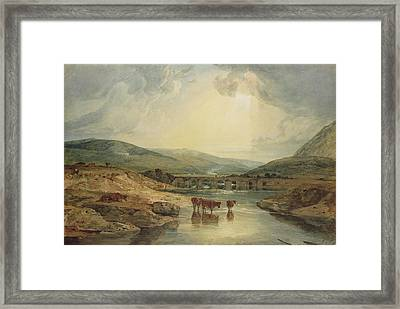 Bridge Over The Usk Framed Print