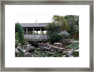 Framed Print featuring the photograph Bridge Over Water by Elizabeth Winter