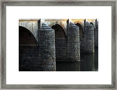 Bridge Pillars Framed Print