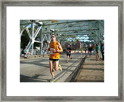 Framed Print featuring the photograph Bridge Runner by Alice Gipson