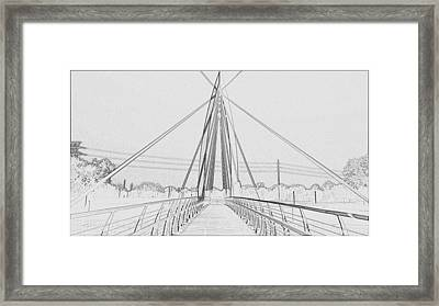 Bridge Sketch Framed Print by David Alvarez