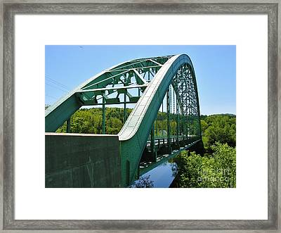 Framed Print featuring the photograph Bridge Spanning Connecticut River by Sherman Perry
