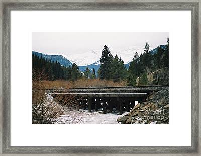 Bridge The Gap Framed Print by Christopher Griffin