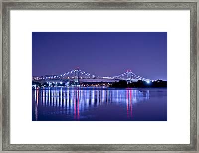 Tri-borough Bridge In Nyc Framed Print