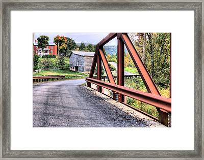 Bridge To A Simpler Time Framed Print by JC Findley