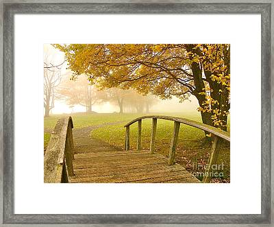 Bridge To Autumn Framed Print