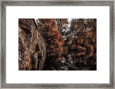 Framed Print featuring the photograph Bridge To Autumn by Tom Gort