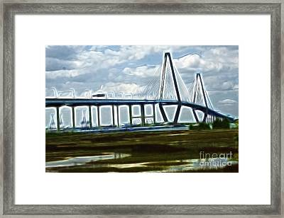 Bridge To Charleston Framed Print by Darleen Stry