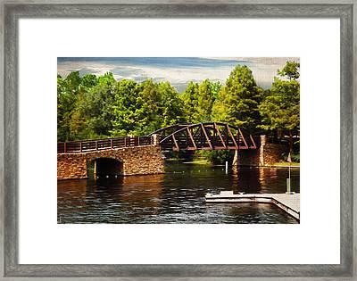Bridge To Get Away Framed Print