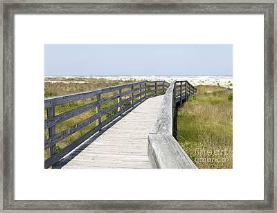 Bridge To The Beach Framed Print by Glennis Siverson
