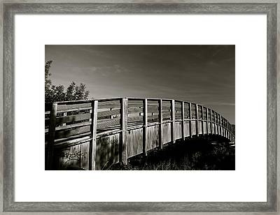 Bridge To The Falls Framed Print by Jez C Self