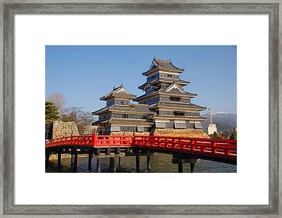Bridge To The Matsumoro Castle Framed Print