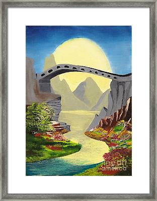Bridge To The Moon Framed Print
