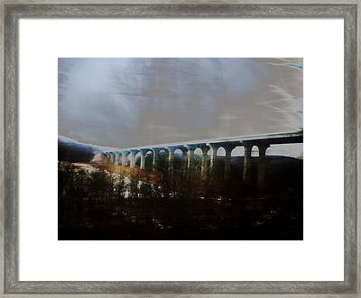 Bridge To The Past Framed Print by Rosvin Des Bouillons