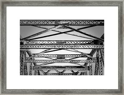 Bridge Truss Framed Print by Eric Gendron