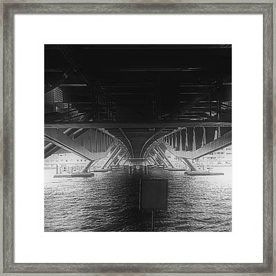 #bridge #water #bw #amsterdam Framed Print