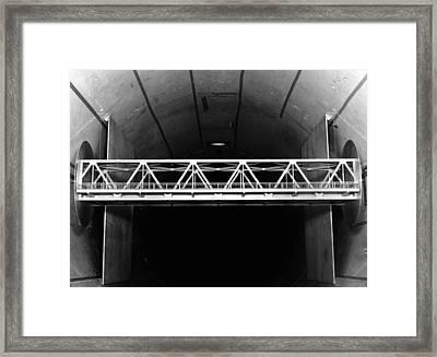 Bridge Wind Tunnel Test, 1954 Framed Print