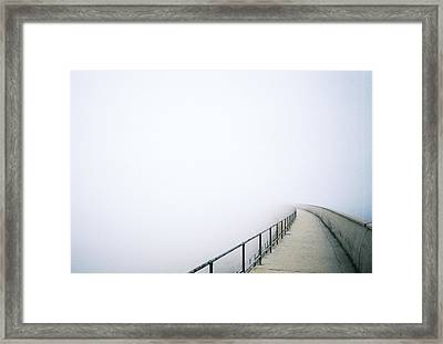 Bridge With Fog Framed Print by I am all the children of light and the children of the day.