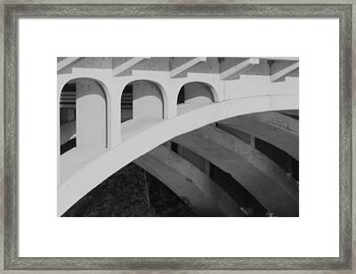 Bridged Trifecta Framed Print by Artist Orange