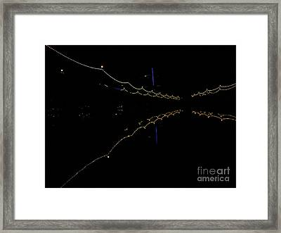 Bridges Light Reflections Framed Print by Lin Haring