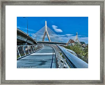 Bridges Meetting Framed Print by Lauren MacIntosh