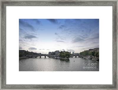 Bridges On River Seine. Paris. France Framed Print by Bernard Jaubert