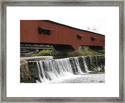 Bridgeton Covered Bridge Framed Print by Tom Branson