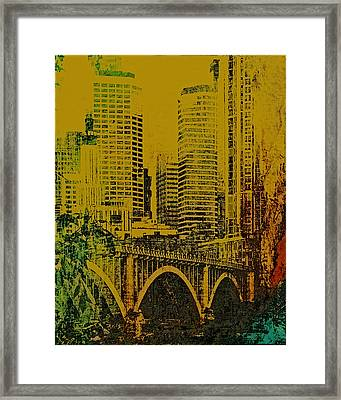Bridging Minneapolis Framed Print by Susan Stone