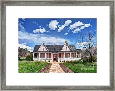 Brigham Young Forest Farm Home Framed Print