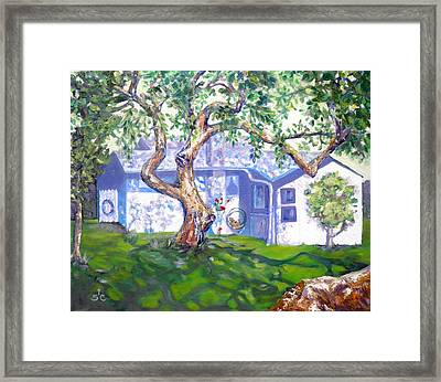 Bright Afternoon Beach House Framed Print