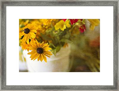 Bright And Sunny Framed Print by Rebecca Cozart
