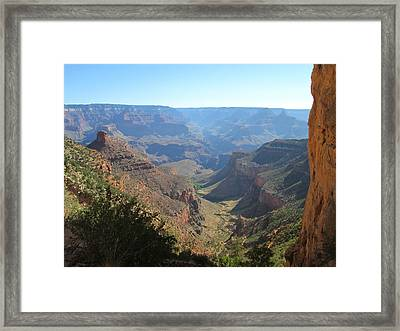 Bright Angel Trail Framed Print by Pasha Sourbeer
