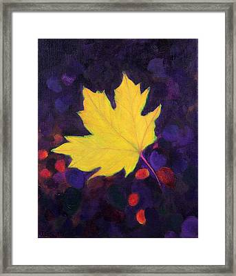 Bright Leaf Framed Print