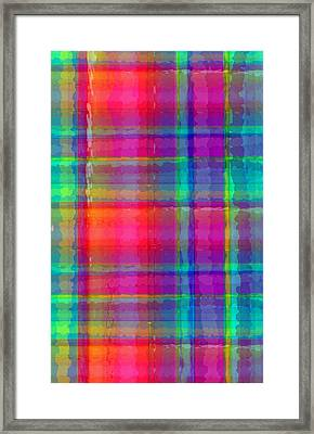Bright Plaid Framed Print by Louisa Knight